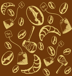 pattern of coffee beans vector image