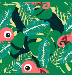pattern with chameleon vector image