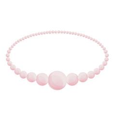 pearl bracelet icon cartoon style vector image