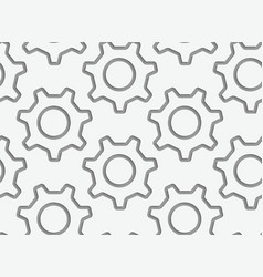 Perforated simple gears contours vector