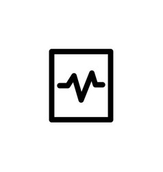 pulse cardiogram icon vector image
