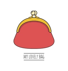 Purse Flat colored of object vector image