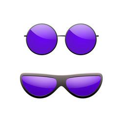 round sunglasses 3d set summer sunglass shade vector image