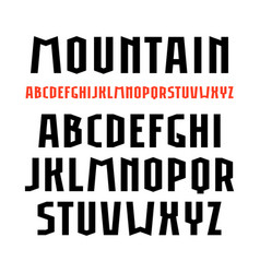 Sanserif font in sport style vector