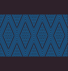 seamless line thai blue pattern arts of vector image