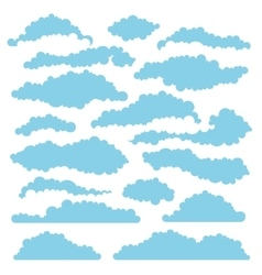 Set of fluffy clouds for design layouts vector