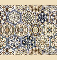 Set of hexagonal patterns vector