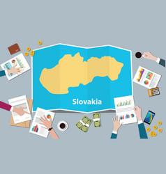 slovakia economy country growth nation team vector image