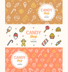 sweets and bakery candy banner flyer horizontal vector image