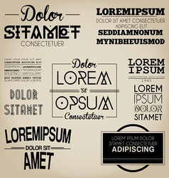 Typography Label Design Vintage Style vector image