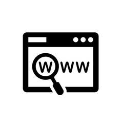 website domain icon vector image