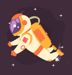 astronaut floating in outer space vector image vector image