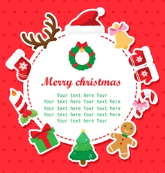 Christmas shower card with place for your text vector image