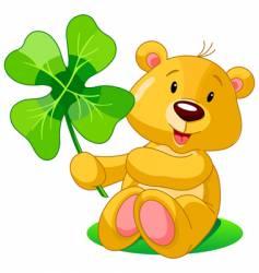 clover bear vector image vector image