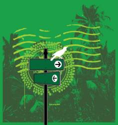 jungle mail vector image