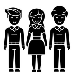 man woman man icon black vector image