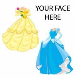 princess template vector image vector image