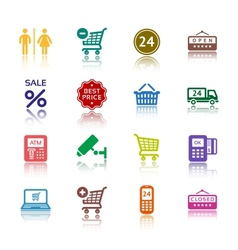 supermarket services pictograms vector image