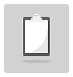 blank clipboard icon vector image vector image