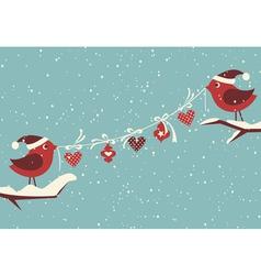 Christmas Birds vector image vector image