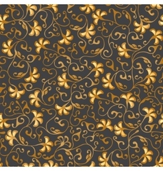 Gold floral seamless lace pattern vector image vector image