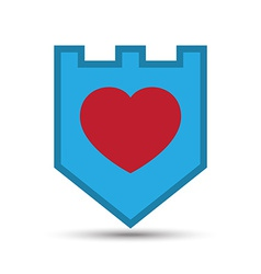 Love heart shield vector