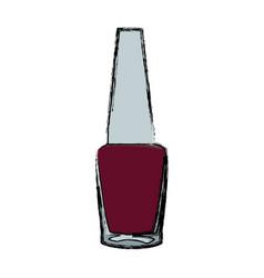 Nail polish bottle cosmetic image vector
