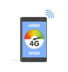 phone fast 4g internet technology smartphone vector image vector image