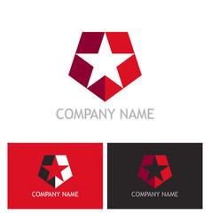 star shield company logo vector image