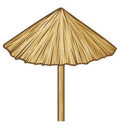 straw umbrella vector image vector image
