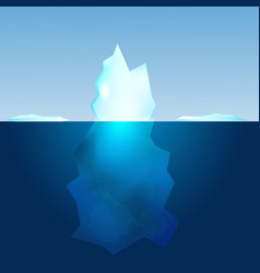 underwater view of iceberg landscape background vector image