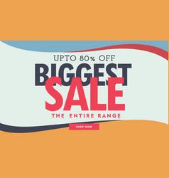 biggest sale banner poster advertisement template vector image vector image