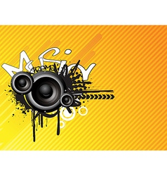 Music absrtact design vector image