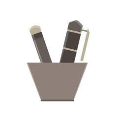 writing tools flat icon isolated design element vector image vector image