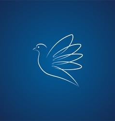 Dove logo over blue vector image vector image
