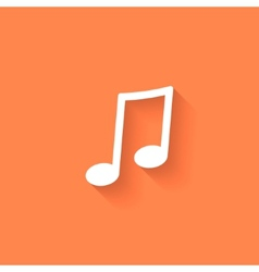musical note icon with shadow vector image vector image
