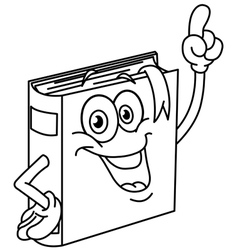 outlined book cartoon vector image
