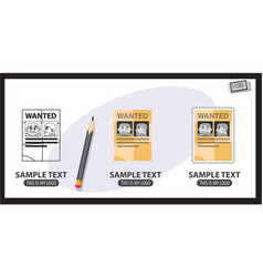 wanted poster logo vector image