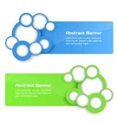 3D Banners with circle vector image