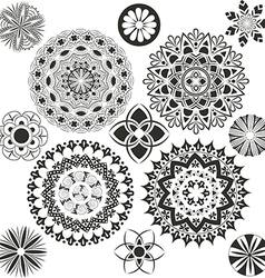 A set of mandalas vector
