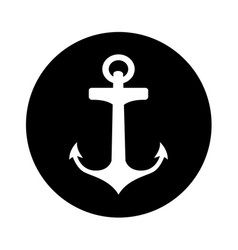 Anchor artistic isolated icon vector