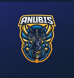 anubis mascot logo vector image