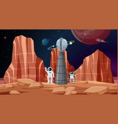 Astronaut space background scene vector