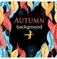 Autumn beautiful vector image