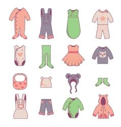 bacloth icons set vector image