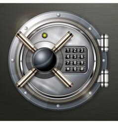 Bank vault on dark vector