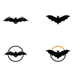 bat logo and symbols template vector image