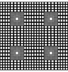 Black and white checkered geometric pattern vector