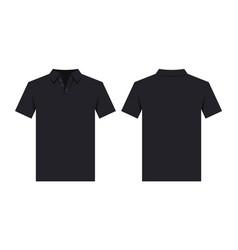 black polo shirt design template vector image