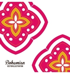 Bohemian design ornament icon Multicolored vector